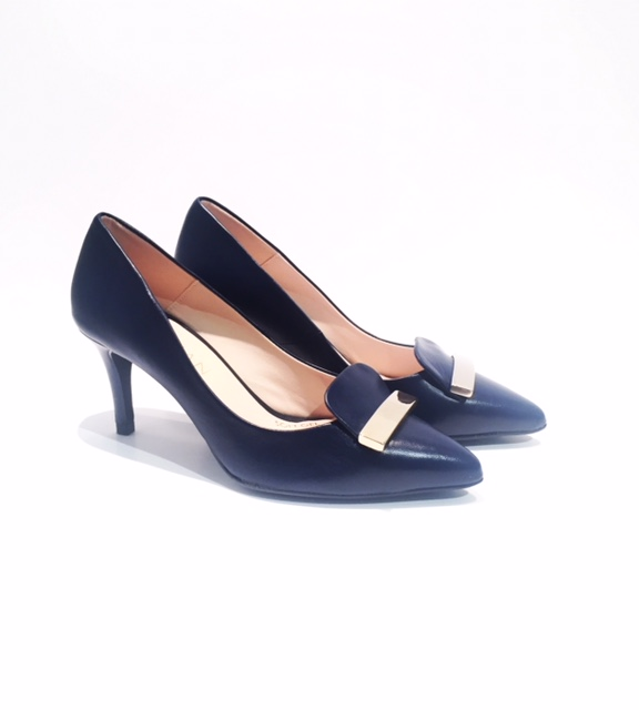 Marian Court Shoes in Navy Leather