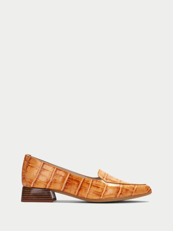HISPANITAS Orange Croc Loafers