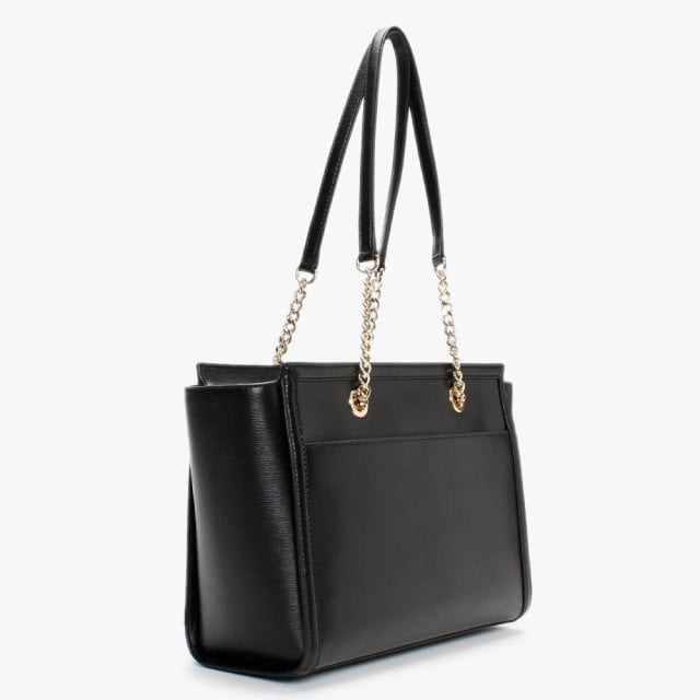 DKNY Large Polly Tote in Black Leather