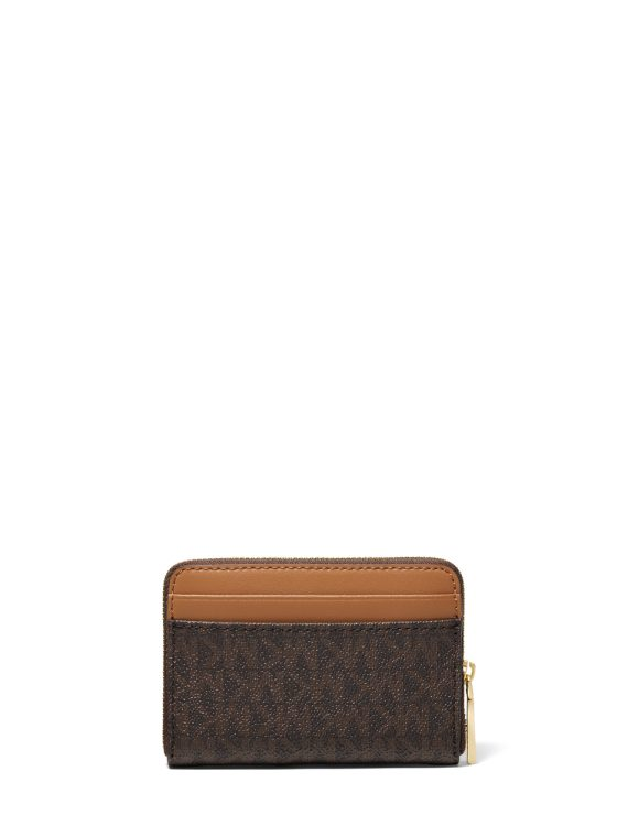 Michael Michael Kors Small Zip Around Coin Case in Brown Logo