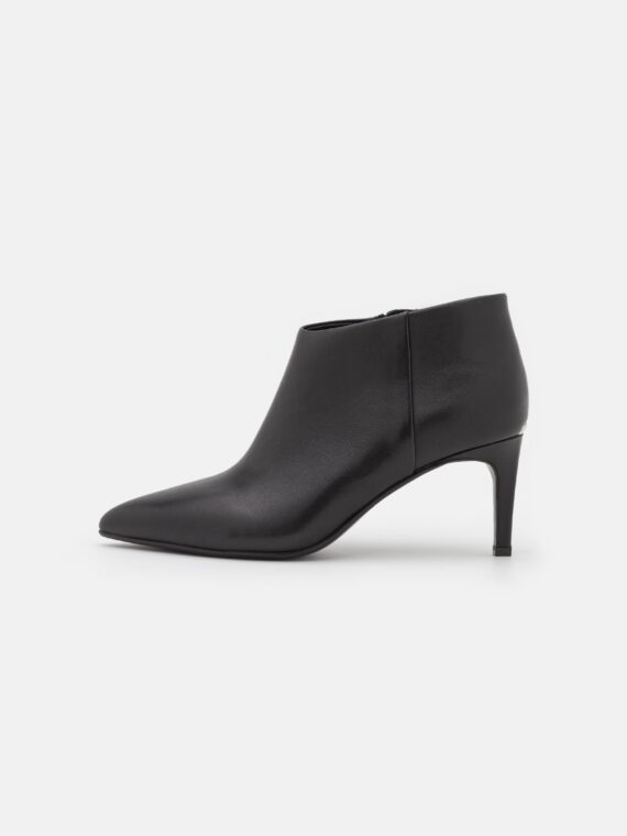 Calvin Klein Essential Black Leather Ankle Booties