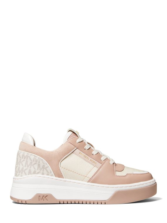 Michael Michael Kors Lexi Leather Sneaker in Two Tone Pink & Cream