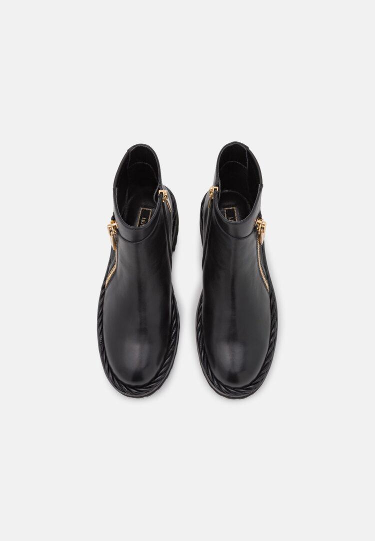 LIU JO Black Leather Chelsea Boots