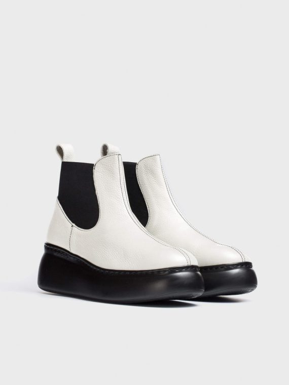 Wonders White Cher Ankle Boots
