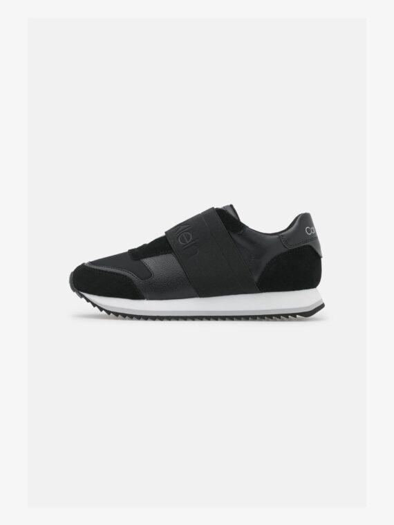 Calvin Klein Elastic Runner in Black