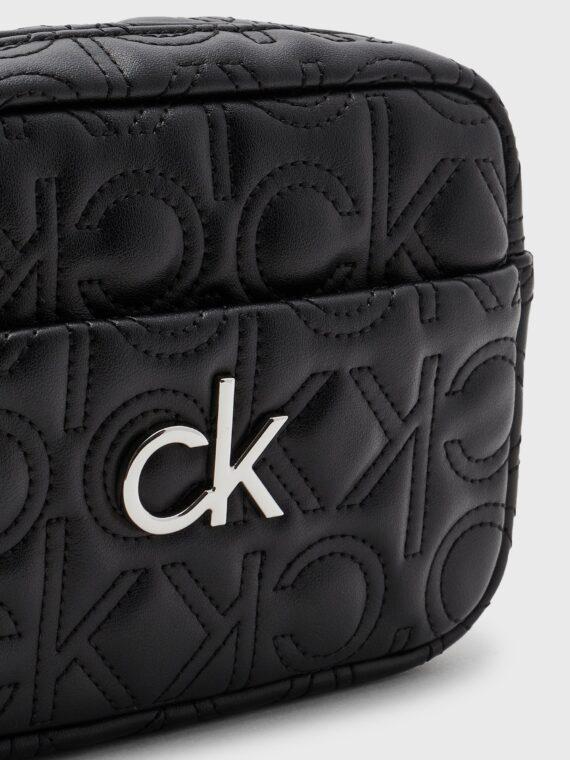 Calvin Klein Re-Lock Quilted Camera Bag in Black
