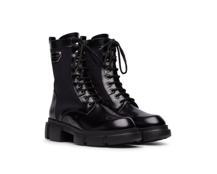Marco Moreo Wendy Black Lace Up Boots