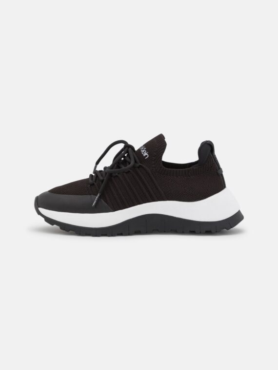 Calvin Klein Knit Lace Up Trainers in Black