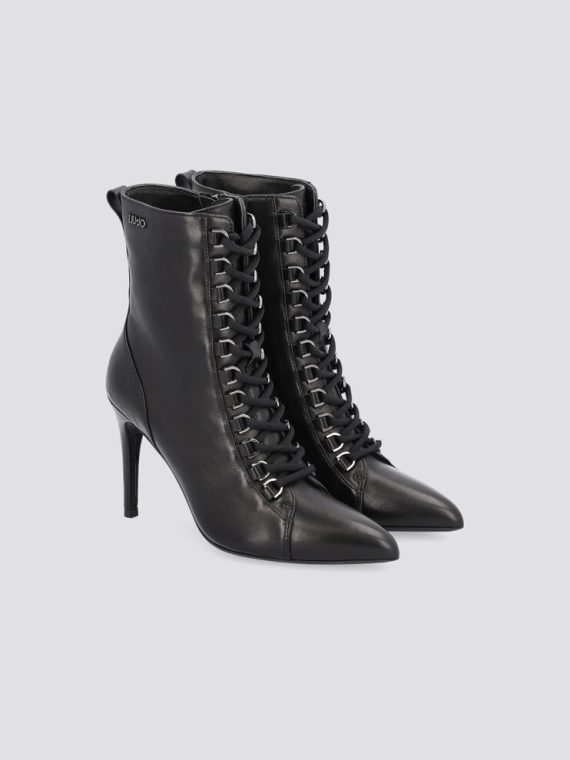 LIU JO Vickie High Lace up Bootie in Black