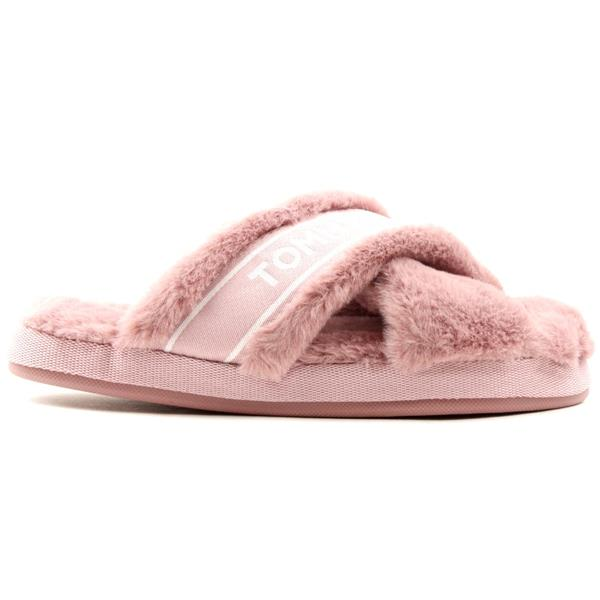 Tommy Hilfiger Furry Home Slippers in Desert Mauve